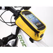 Sacoche de cadre Roswheel pour smart phone jaune small