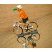 Figurine cycliste : maillot orange du vainqueur du tour de Hollande à la gourde