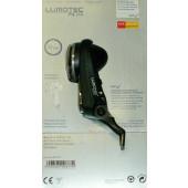 Phare avant LUMOTEC FLY PLUS BUSCH+MULLER, halogen, pour moyeu dynamo, fixation sur fouche