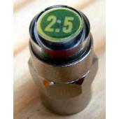 Bouchon de valve schräder - indicateur vert taré à 2.5 Bar
