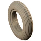 Bandage Plein Greentyre CUB Gris - 6x1 1/4 - 150x32 - largeur intérieure de jante 22 à 24 mm - ETRTO 32-86