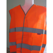 Gilet de signalisation orange : XL