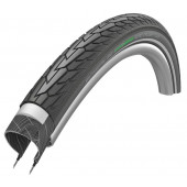 24x1.75 Pneumatique Schwalbe ROAD CRUISER PLUS Noir HS484 - Green Compound - Tringle Rigide - ETRTO 47-507 - OEM