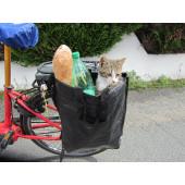 Sac cabas fixation latérale sur porte bagages de vélo