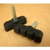 Paire de patins de freins à tige 45mm