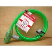 Antivol câble à clé, Point, 80cm, vert
