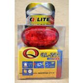 Feu arrière Q-LITE 201, à piles, fixation sur tige de selle