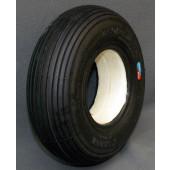 PNEU AVEC INSERT PLEIN - LIGNE - NOIR - 2.80/2.50-4 - pour jante largeur 55 mm en 2 parties