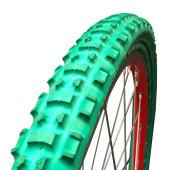 Pneu plein Greentyre TRACKER Vert - 24x1.75 - largeur intérieure de jante 23 à 25 mm - ETRTO 47-507